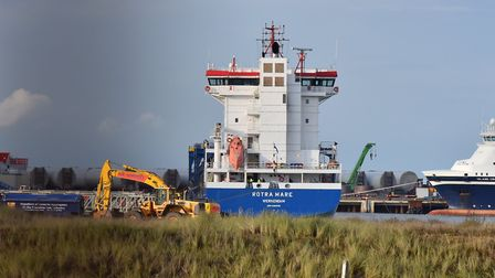 Stowaways have been found on The Rotra Mare which has now docked in Great Yarmouth harbour after tra