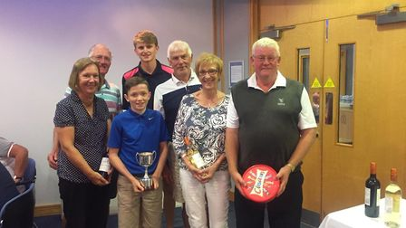 The Dereham team who won the annual competition for nine hole golf clubs in Norfolk Picture: DEBBIE