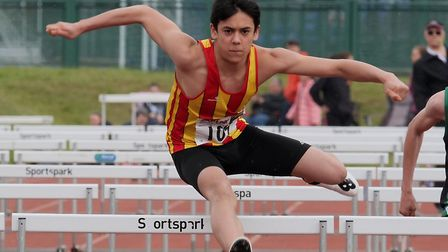 Jaiden Dean is ranked ninth in the UK for the 60M hurdles. Picture: Tony Payne