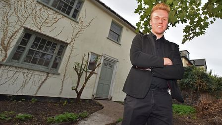 Agents are baffled over this house for sale. Kieran Norman, marketing executive, Watsons, outside th