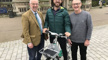 From left to right: Councillor Martin Wilby, Norfolk County Council, Phil Ellis, CEO of Beryl, Counc