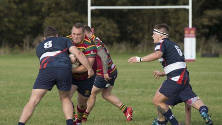 Pip Scott on the ball for Norwich during their win over Stowmarket Picture: ANDY MICKLETHWAITE