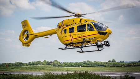 The East Anglian Air Ambulance (EAAA) was called out to Lowestoft. Photo: EAAA