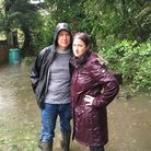 Colin Grigson and Sara Read, from Brundall, had to buy an electric water pump to stop their home fro