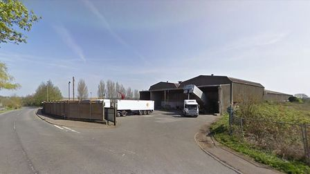 The former storage facility at Stoke Ferry, where 30 homes will be built Picture: Google