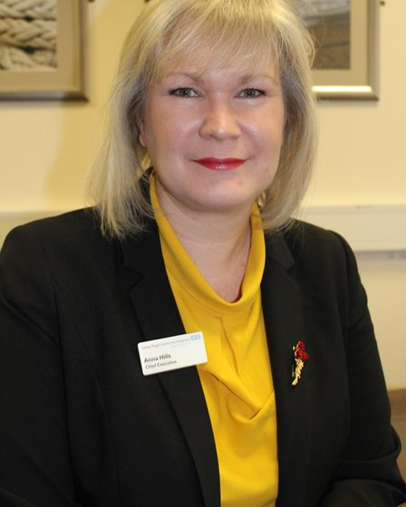 Anna Hills, chief executive of James Paget University Hospital. Picture: James Paget University Hosp