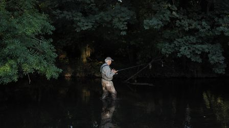 Friend Simon Clark fishes a swim on the Wensum. My diary tells me that in the hot summer of 1976 whe