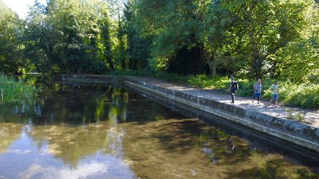 Robbie Northman walks the Little Ouse. Just where has the water gone? Picture: John Bailey
