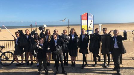 14 Eco Warriors from Ormiston Venture Academy spent an hour picking up litter on and around Gorlesto