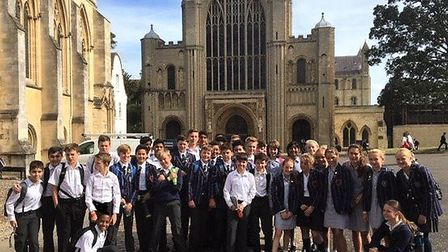 The Town Close School Year 8 children enjoyed a fascinating tour of medieval Norwich, concluding wit