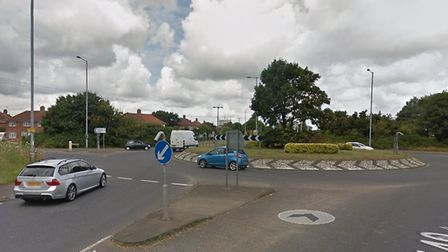 Two cars have collided on a busy north Norfolk roundabout on the A140. Picture: Google Maps