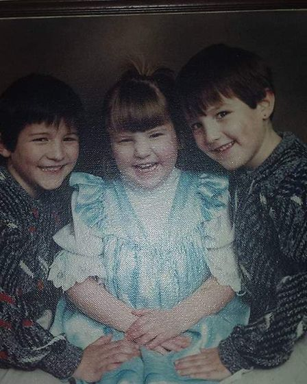 Her brother Lee said Hannah would always have a smile on her despite the bad hand she was dealt. Pic
