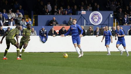 Lowestoft player Josh Curry in possession Picture: Shirley D Whitlow