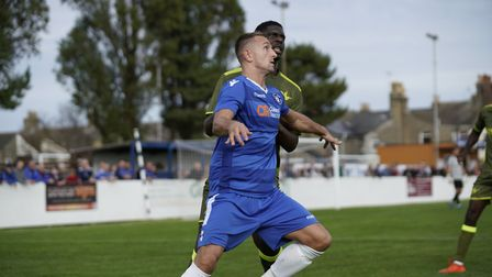 Lowestoft's Jake Reed scored two late goals at Walmer Road Picture: Shirley D Whitlow
