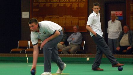 Rising Stars feature on the Yarmouth indoor bowls club under 21 open bowls tournament.Photo: Nick Bu