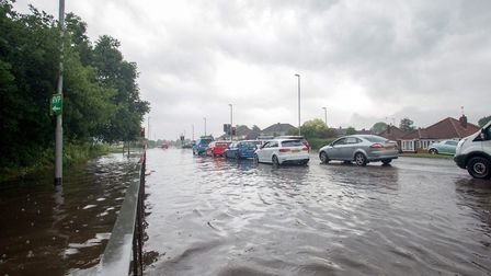 File photo of flooding near Norwich Aiport following heavy rain. Photo: Angus Bennett/Smile 4 The C