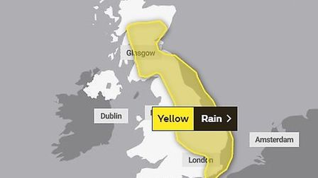 A yellow weather warning for rain is in place on Sunday, as more flooding predicted for east coast.