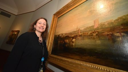 Dr Francesca Vanke, Senior Curator and Keeper of Art, Norfolk Museums Service with the JMW Turner pa
