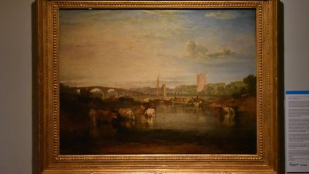 The JMW Turner painting, Walton Bridge, was saved and is now on show at Norwich Castle. Picture: Jam