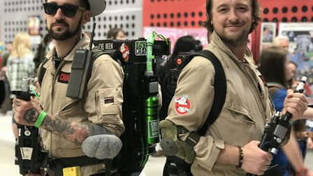 Who are you gonna call? Edward Parsons, 33 from Colchester and James Ducker, 33 from Norwich at the