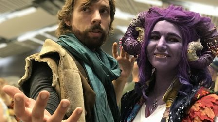 Jake Griggs, 30 from Norwich and Rosie Croft, 27 from Bury St Edmunds as Caleb and Mollymauk from th
