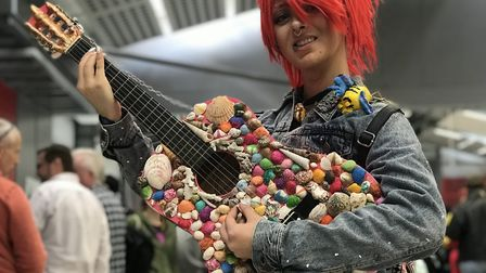 Louisa Barrett, 17 from Hellesdon, brought her punk version of Ariel the Mermaid to Nor-Con. Picture