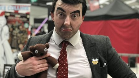 Tony Herbert from North Walsham was a convincing Mr Bean at the Nor-Con event at the Norfolk Showgro