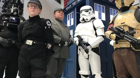 The dark side of Nor-Con at the Norfolk Showground. These fans dressed as their favourite Star Wars