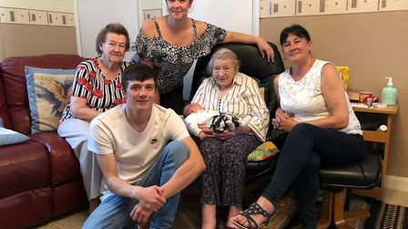 Meet the Norfolk family with six generations. Picture: Jodie Ward