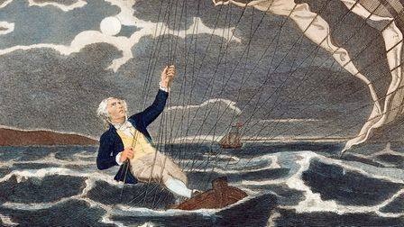 Major Money, Norfolk hero, fighting for his life in the North Sea. Picture: Smithsonian Institution