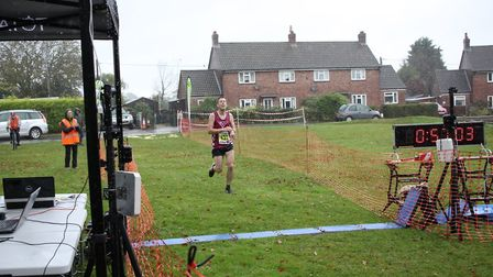 Kirk Bagge won the Bure Valley 10 on Sunday. Picture: Total Race Timing