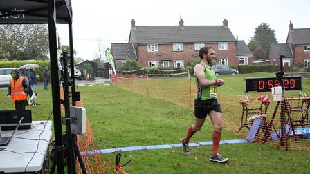 Dom Blake at the end of the Bure Valley 10. Picture: Total Race Timing