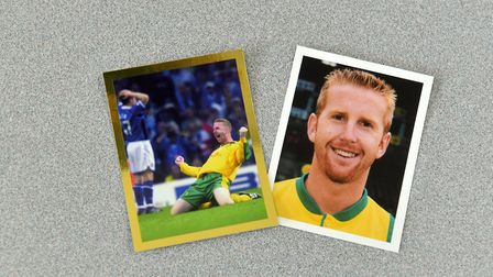 Iwan Robert's' stickers in the Norwich City Sticker Book Picture: Jamie Honeywood
