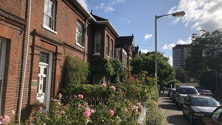 The four storey Georgian properties of Clarendon Road in Norwich are just a stone's throw away from