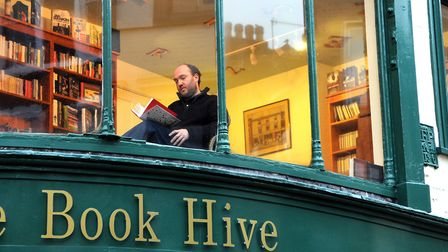 The Book Hive has been open on London Street for ten years. Photo: Adrian Judd