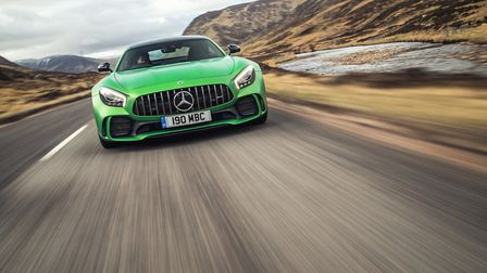 Mr Reeve also drove a Mercedes AMG GT R (not the one pictured). Picture: Mercedes