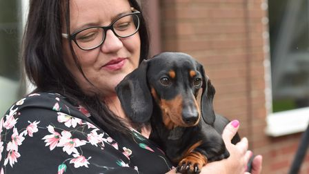 The Snell family almost lost their dog Dukey after an Amazon delivery driver ran over him when leavi