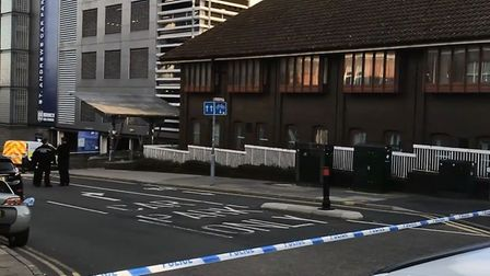 Police are currently on the scene of an incident on Duke Street in Norwich. Picture: Archant.