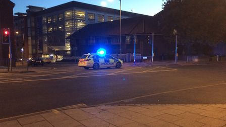 Police are currently on the scene of an incident on Duke Street in Norwich. Picture: Staff