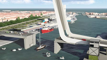 Visualisations of the proposed third crossing in Lowestoft. Pictures: Suffolk County Council