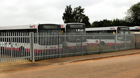 First Buses is looking to expand its depot on Vulcan Road. Picture: Bill Smith