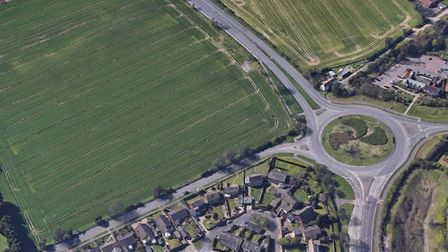 Shops could be built on land off Links Road in Hopton-on-Sea. Pic: Google Maps.