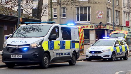 Police called to Prince of Wales Road in Norwich. Photo: David Cross
