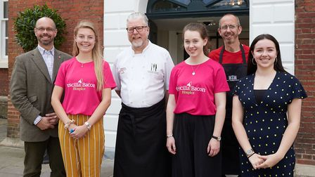 Cooking up a storm for charity: (from left) Hugo Stevenson, Priscilla Bacon Hospice appeal; Ellyn Ro