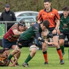 North Walsham Raiders' Tom Coller on the front foot during the cup tie against Norwich Lions at Scot