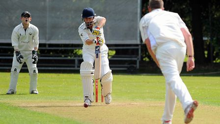 Kieron Tuck batting for Cromer - he has nowswapped a role with Norfolk cricket for a new job with No