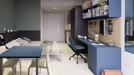 A typical bedroom in the new Benedicts Gate. Pic: freshstudenliving.co.uk