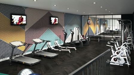 The gym at the student complex Crown Place, above the old BHS. Pic: Archant library