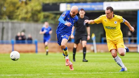 Chris Henderson in action during King's Lynn Town's clash against Chester Picture: Ian Burt Photogra