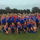 A group photograph of the Great Yarmouth Road Runners who together with Great Yarmouth Borough Counc
